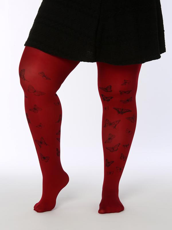Piros Plus Size Lepkés Harisnya