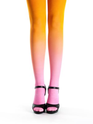 Pink-narancs Színátmenetes Harisnya