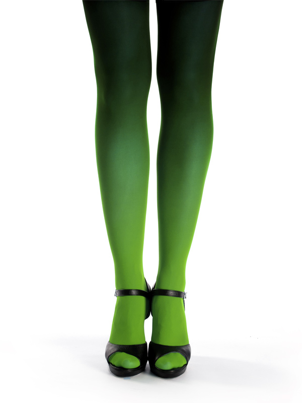 Zöld-fekete Színátmenetes Harisnya