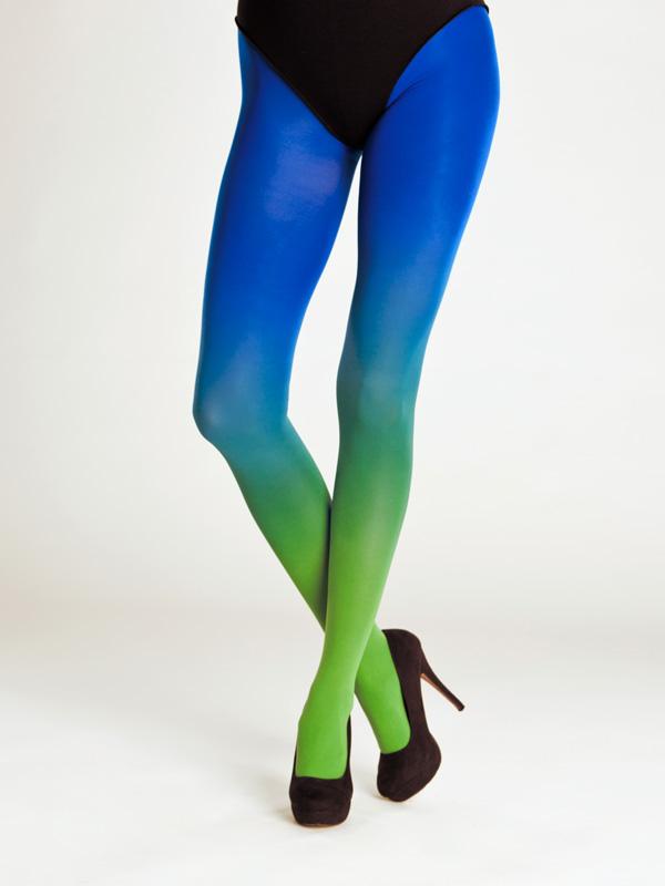 Zöld Kék Színátmenetes Harisnya