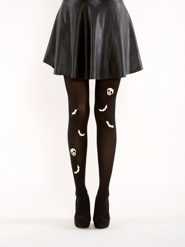 Glow In The Dark Bat Tights