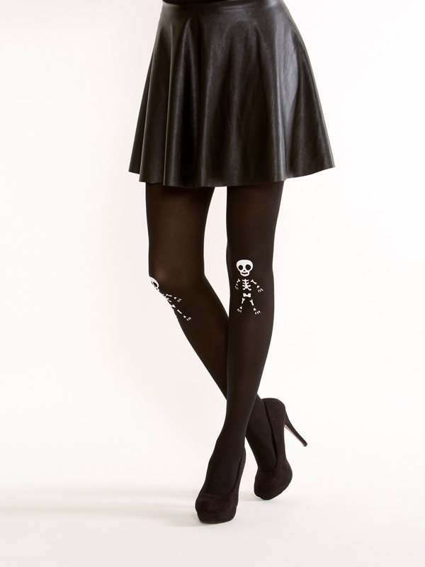 Cute Skeleton Tights By Virivee