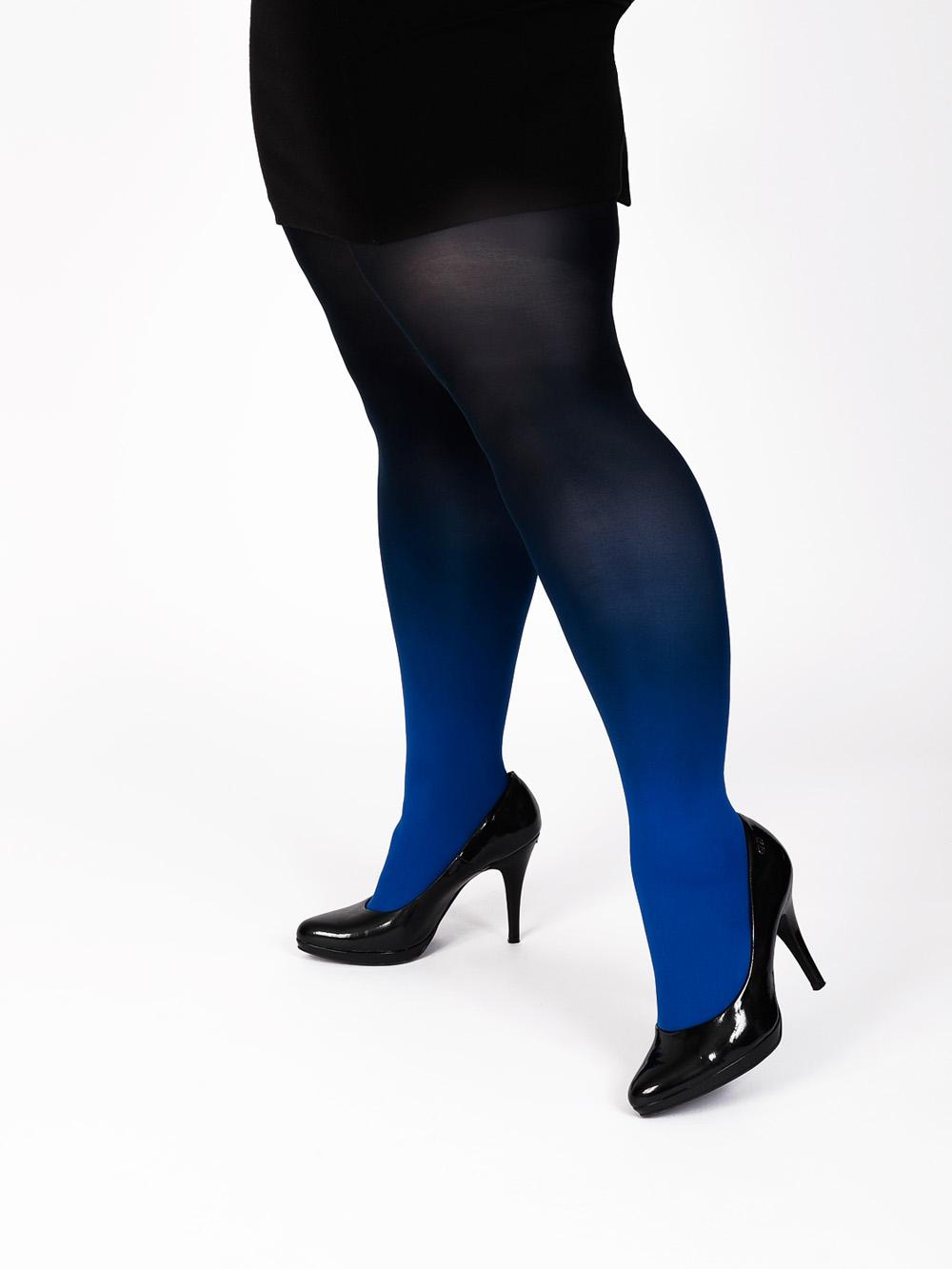 Plus Size Kék-fekete Harisnya