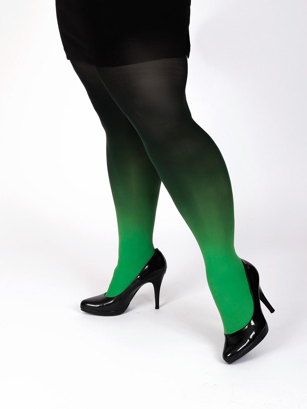 Plus Size Zöld-fekete Harisnya