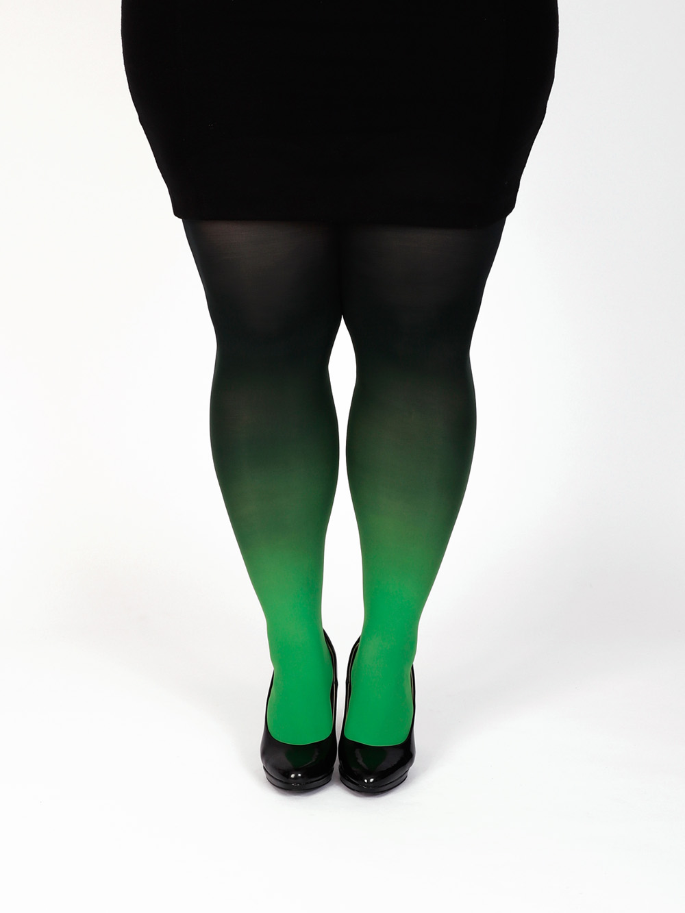 Plus Size Zöld Fekete Színátmenetes Harisnya