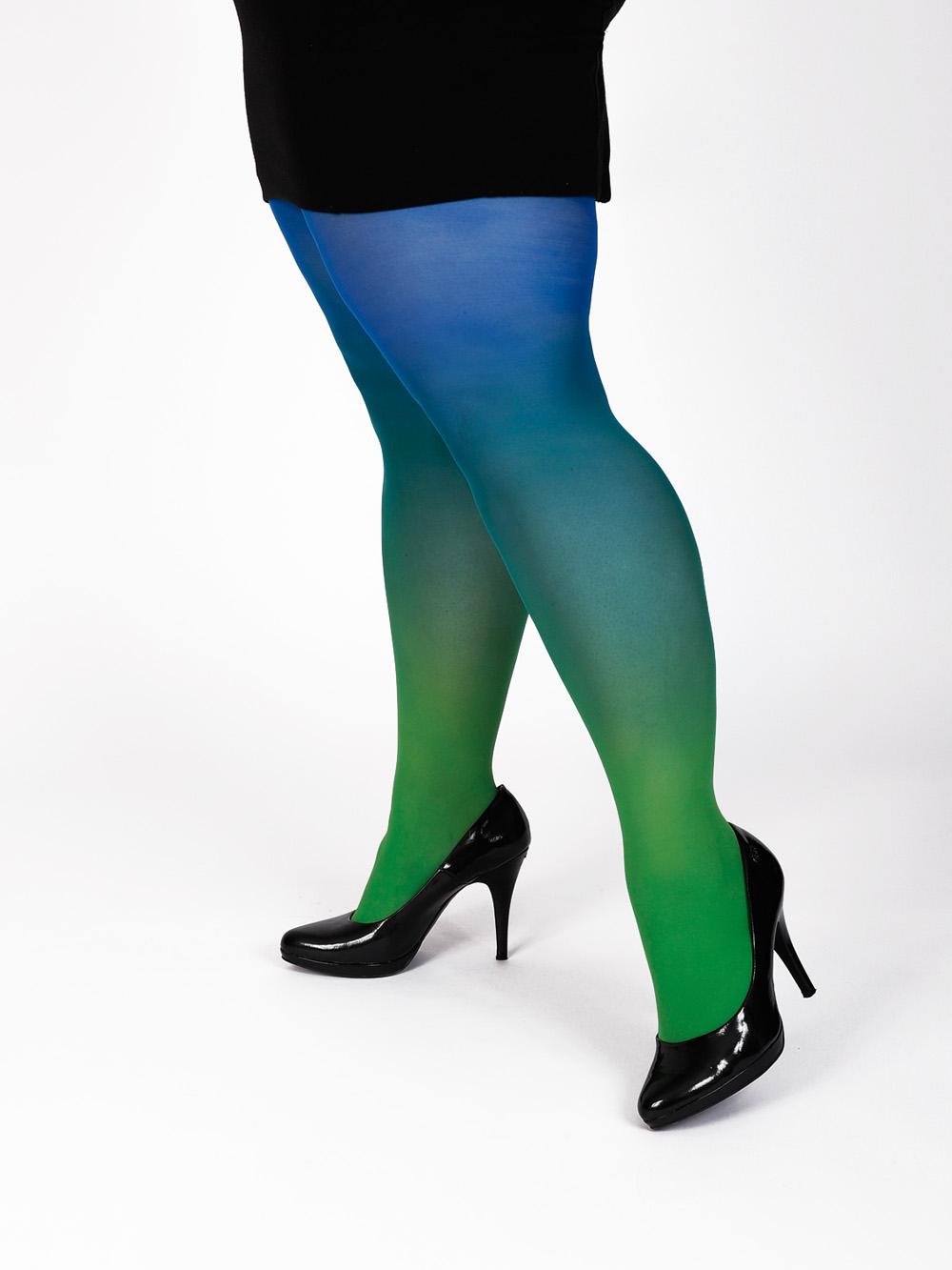 Plus Size Zöld-kék Harisnya