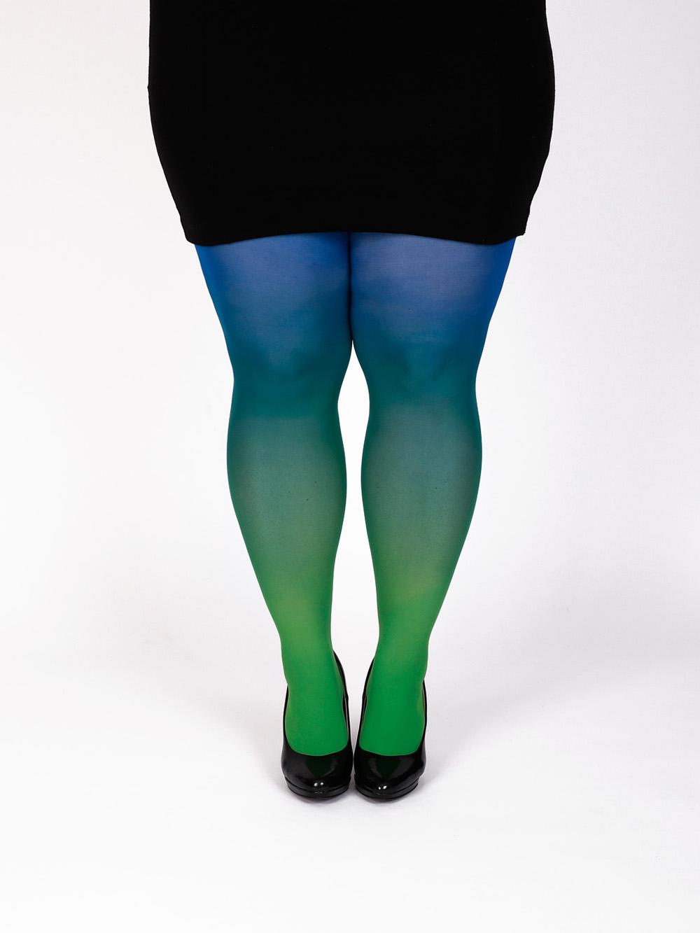 Plus Size Kék Fekete Színátmenetes Harisnya