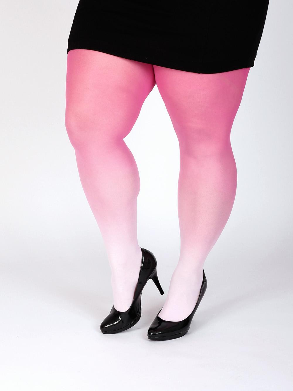 Plus Size Pink Színátmenetes Harisnya