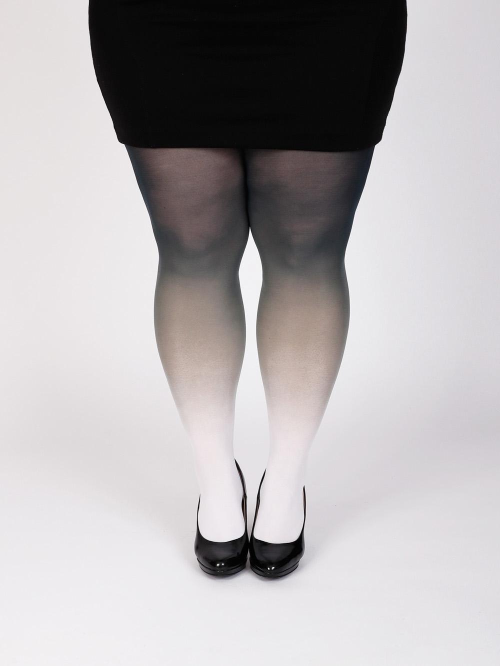 Plus Size Fehér-fekete Harisnya