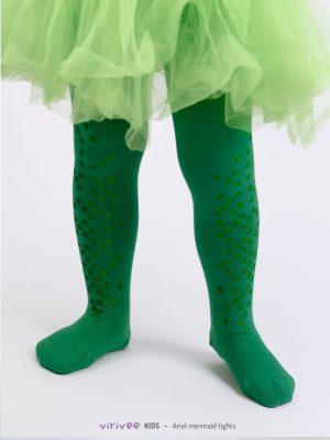 Zöld Csillám Pikkelyes Gyerek Harisnya