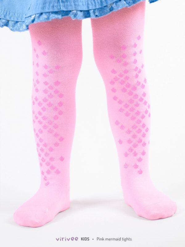 Pink Sellő Gyerek Harisnya