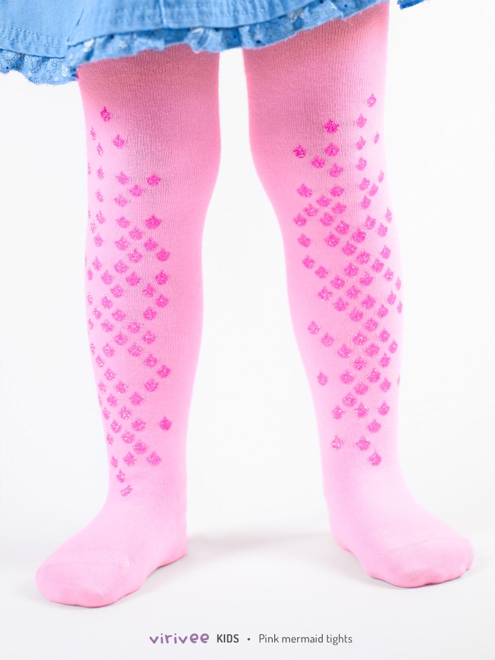 Rózsaszín Csillámos Gyerek Harisnya