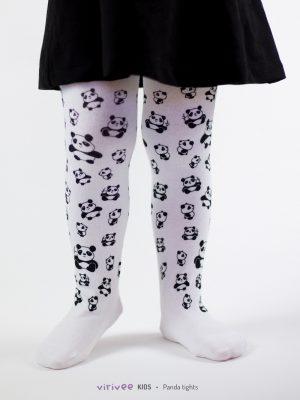 Panda Fehér Gyerek Harisnya