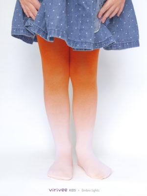 Narancs Színátmenetes Gyerek Harisnya