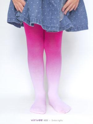 Rózsaszín Színátmenetes Gyerek Harisnya
